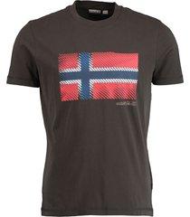 napapijri t-shirt sibu olijf regular fit np000ix2/ge3