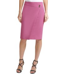 dkny asymmetrical pencil skirt