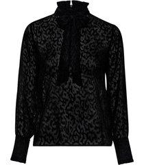 knytblus objcorinne l/s bow blouse