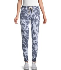 theo & spence women's tie-dyed jogger pants - dark blue - size l
