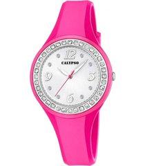 reloj digital crush fucsia calypso