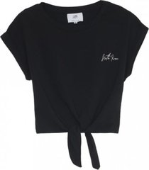 basic t-shirt met knot