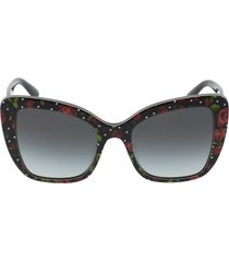 rose print acetate sunglasses