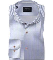 adam est 1916 adam est. 1916 dress overhemd blauw/wit gestreept