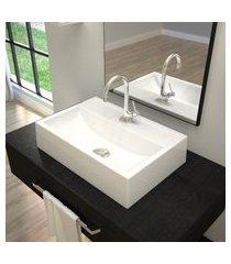 cuba de apoio para banheiro trevalla q45 retangular mármore
