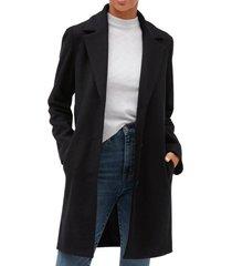 abrigo largo negro gap