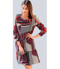 jurk alba moda marine::rood::offwhite