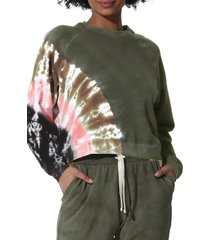electric & rose ronan tie dye sweatshirt, size x-small in army/onyx/rose gold at nordstrom