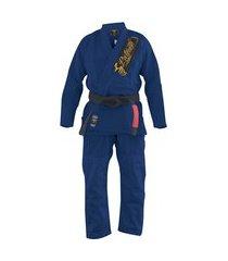 kimono jiu jitsu pretorian roll azul marinho