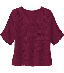 gebreide trui van linnen, granaatappel 40/42