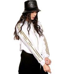 chaqueta blanco-dorado adidas originals sst 2.0