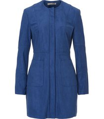 betty barclay - blauwe mantel alcantara - 501724018411
