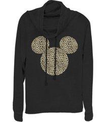 fifth sun juniors disney mickey classic animal ears fleece cowl neck sweatshirt