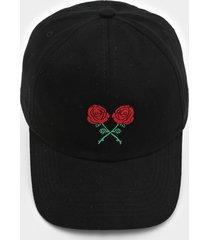 boné kanui dad cap double roses preto - kanui