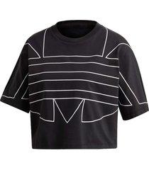 camiseta adidas lrg logo tee preto - preto - feminino - dafiti