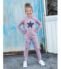 legginsy star dusty pink