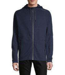 puma men's cotton hooded jacket - blue - size s