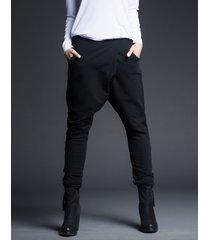 spodnie z kieszeniami czarne