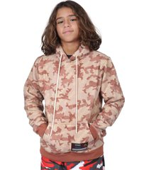 moletom kings sneakers camuflado juvenil marrom