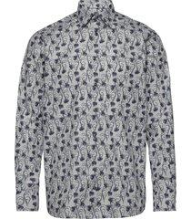floral flannel shirt - contemporary fit skjorta casual multi/mönstrad eton