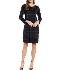 women's anne klein windowpane sweater dress