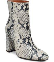 joan snake grey shoes boots ankle boots ankle boot - heel vit henry kole