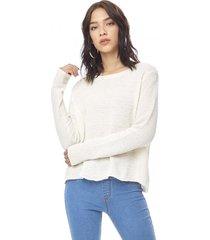 sweater chenille delgado mujer ecru corona