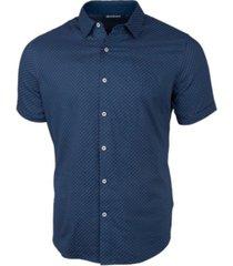 cutter & buck men's windward jigsaw print short sleeve shirt