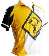 camiseta ciclista 3 bolsos arco e flecha adventure team