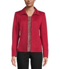 kasper ponte-knit seamed jacket