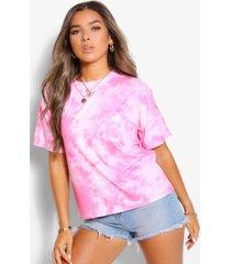 petite tie dye t-shirt, roze