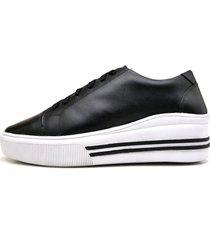 sapatênis casual feminino top franca shoes preto