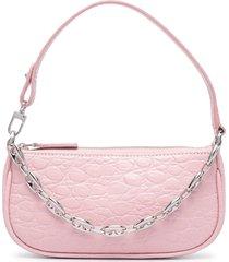 by far mini rachel pebbled shoulder bag - pink