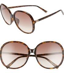 women's givenchy 63mm oversize gradient round sunglasses - dark havana/ brown