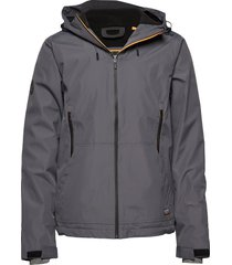 hooded elite windcheater dun jack grijs superdry