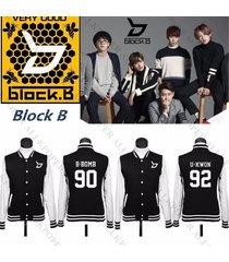 kpop block b baseball uniform blooming period coat  varsity jacket taei min hyuk