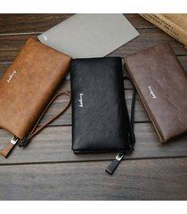 frizione per porta carte con portafoglio lungo da uomo, borsa lunga borsa