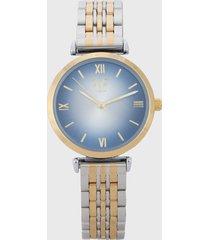 reloj plateado-dorado-azul versace 19.69