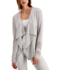 alfani mixed-stitch cardigan, created for macy's