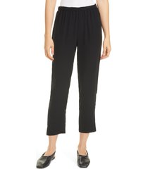 women's eileen fisher tapered silk pants
