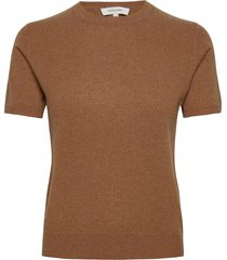 josefa ss cashmere knit t-shirts & tops short-sleeved bruin andiata