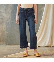 driftwood women's charlee wide leg jeans by sundance in deep sea 32