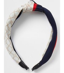 river island womens cream ri monogram print headband