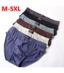 100% cotton mens briefs xxxl plus size men underwear panties m/l/xl/xxl/xxxl/4xl