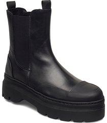 viola rubber shoes chelsea boots svart pavement