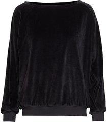 sallie velvet sweat sweat-shirt trui zwart moshi moshi mind