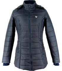 casaco térmico longo fiero para neve nebraska azul - kanui