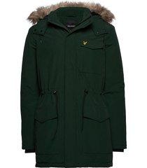 winter weight microfleece jacket parka jacka grön lyle & scott