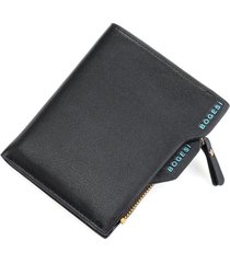 billetera monedero hombre cuero pu - color negro