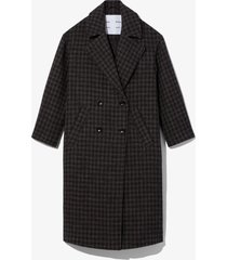 proenza schouler white label checkered plaid double breasted coat /black s